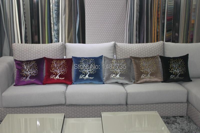 New fashion pillow case Fashion Luxurious Sequin Pillow Cushion Cover Zipper Pillow Case Home Car Sofa Throw Pillow cases