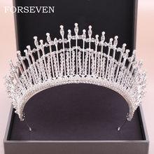 Barroco rainha coroa acessórios de cabelo casamento nupcial pérola tiara cabeça peça prata cor pérola tiara nupcial strass