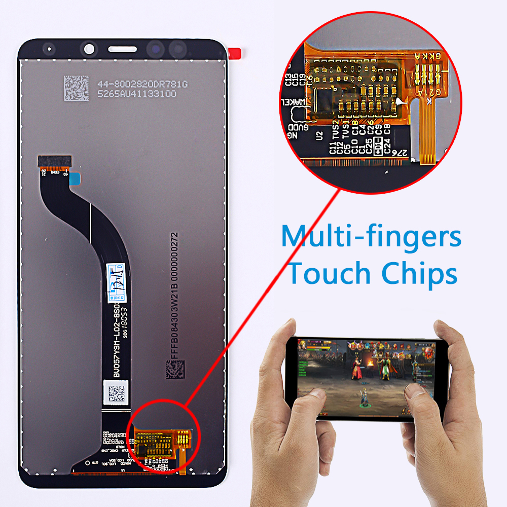 AAA 5.7 inch LCD display for Xiaomi Redmi 5 touch screen digitizer assembly 1440*720 Frame Oleophobic Coating 10 Touch