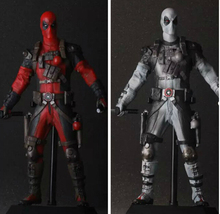 Deadpool Action Figures Toy Movable Anime Game Toys 12'Inch Figurines For Kid Children Action Figures Deadpool Red/Silver
