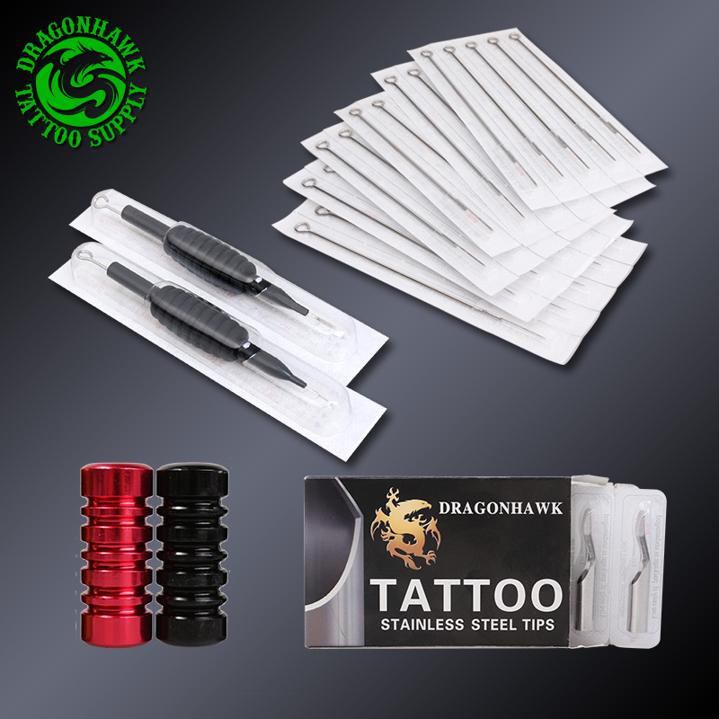 Professional Complete Tattoo Kit Set Tattoo Machine Power Supply 2 guns Immortal Color Inks Tattoo Supplies