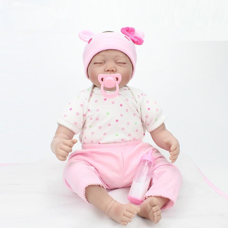 22 Inch 55cm Reborn Babies Realistic font b Doll b font Reborn Boy Girl Gift For