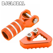 BJGLOBAL CNC Gear Shifter Shift Lever Tip Rear Brake Pedal Step For KTM SX EXC XCF XC XCW SXF EXCF SMR LC4 Enduro 125 250 300 стоимость