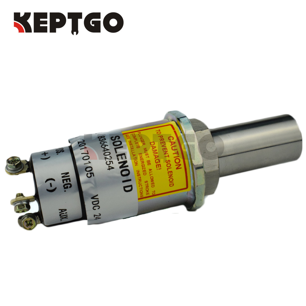 24V 836640254 Fuel Shutdown Solenoid Valve For Woodward Diesel Engine 5036569 1751S-24V fuel shutdown solenoid valve 332 j5060 its for jcb excavator 24v stop solenoid