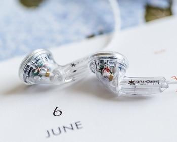 Moondrop ShiroYuki White Snow HiFi Dynamic Earbuds Line Type Hifi Music DD Flat MP3 Earphones MX500 Vido X6 Qian25 69 VE Monk