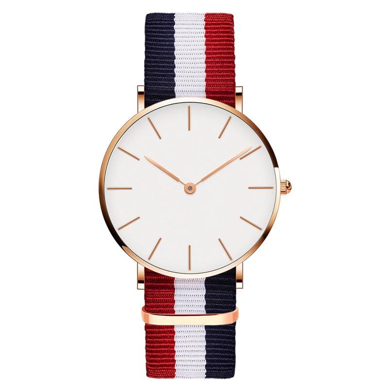 Прямая доставка часы для Для мужчин Для женщин Ultra Slim кварцевые часы с простым нейлон группа Relogio Masculino Наручные часы Бесплатная доставка