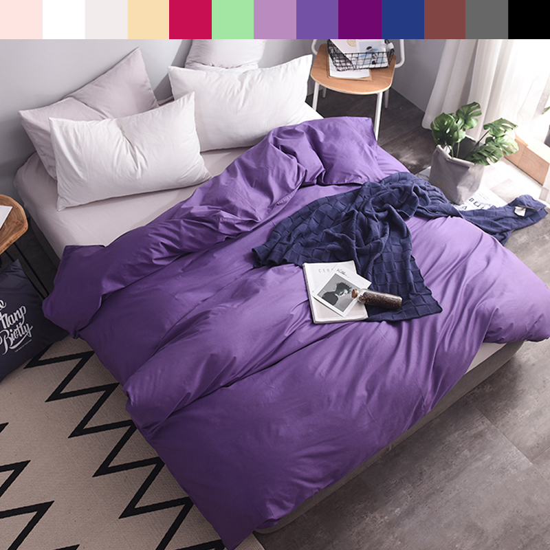 Custom Duvet Cover 2 Persons Quilts Covers King Double 600TC Pure Cotton Luxury Bedding Nordic 220*240 200*200 Astro Violet