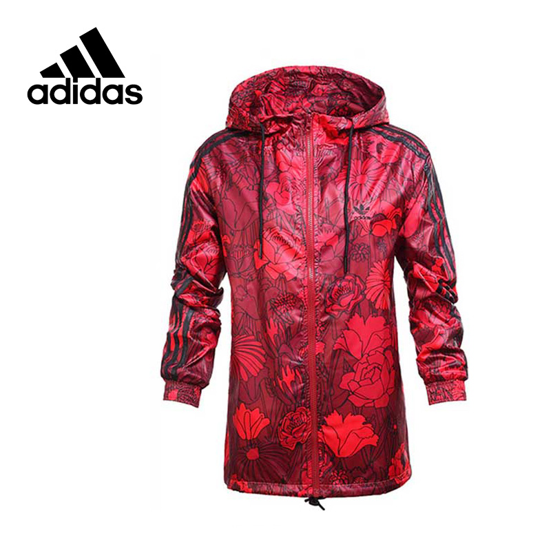 Original New Arrival Official Adidas Performance Women's Jacket Outdoor Windproof Hooded Sportswear цена