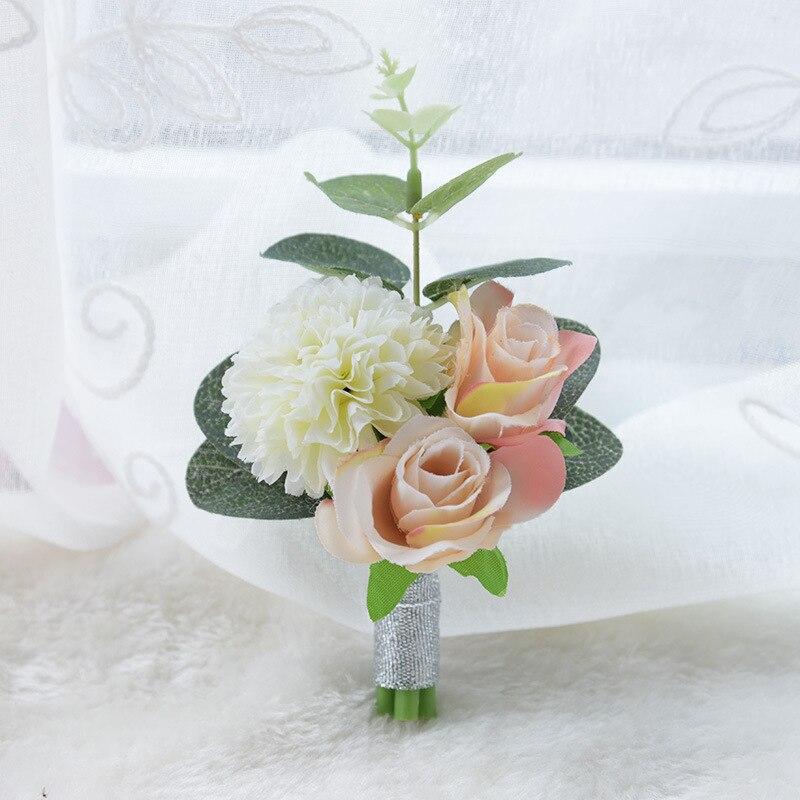 Acheter Éternelle Ange 10 pcs soie rose fleurs artificielle broches corsage fille D'obtention Du Diplôme de partie fleur de Demoiselle D'honneur poignet fleurs de Artificielle et Fleurs Séchées fiable fournisseurs