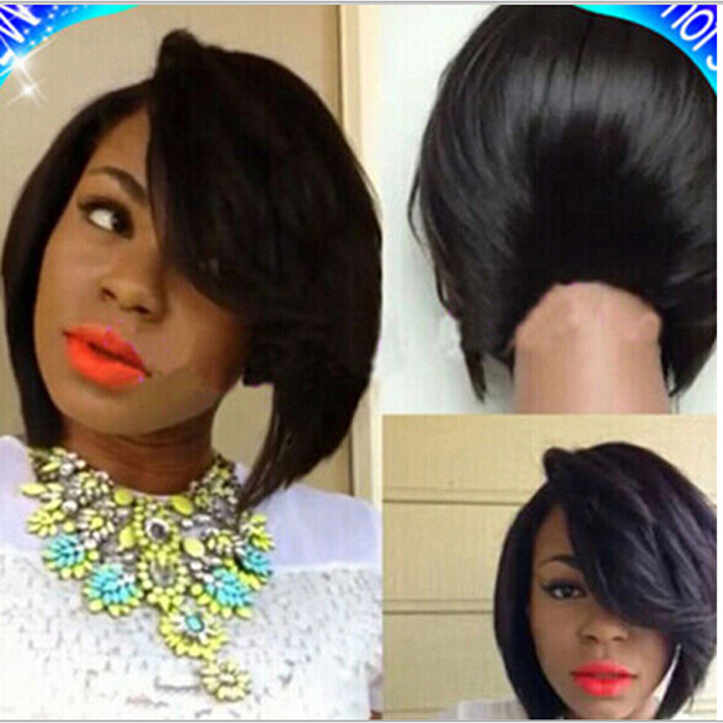 Cheap Bob Wigs With Side Bangs Fashion Synthetic Wig Heat
