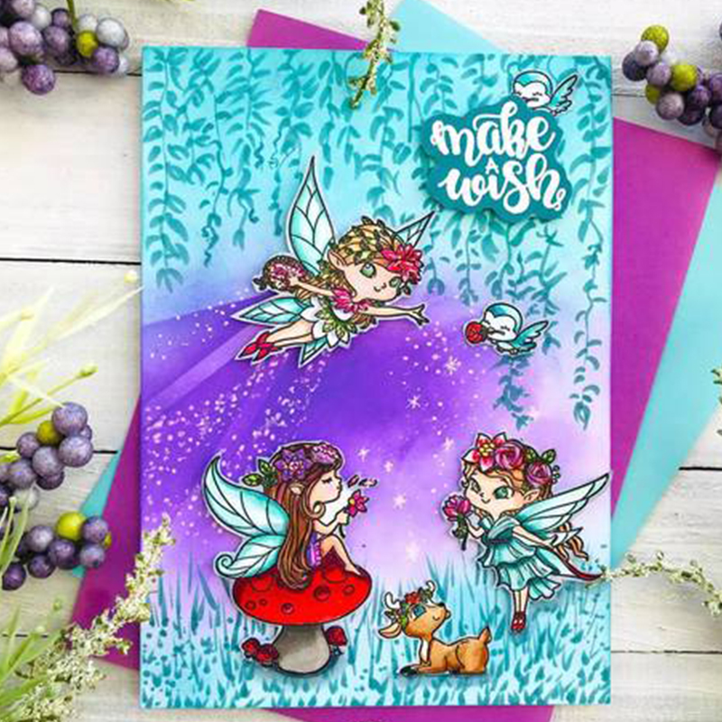 Elf Girls Make Wish Best Friends Phrases Transparent Clear Stamps for DIY Scrapbooking Paper Card Making Crafts Suppliy New 2019