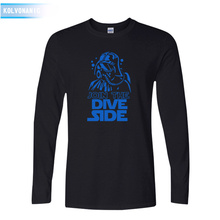 2018 Fall Join The Dive Side Underwater Dark Printed T Shirt Men's Sportswear Long Sleeve O-Neck T-Shirt Dresses For Men To-87 side button surplice long sleeve t shirt for men