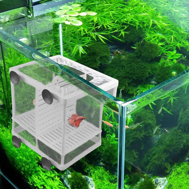 حوض السمك تربية المربي صندوق الطفل الأسماك التفريخ العزلة صافي خزان الأسماك حاضنة صندوق معلق حوض السمك الملحقات لوازم
