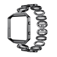 Лидер продаж Hour Clock SmartWatch полосы Роскошные браслет из нержавеющей стали умные часы ремешок + чехол для fitbit Blaze подарки