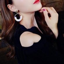 Tassel Earrings Pendientes Earings Fashion 2019 Golden Round Big For Women Hanging Dangle Punk Earring Party Brincos