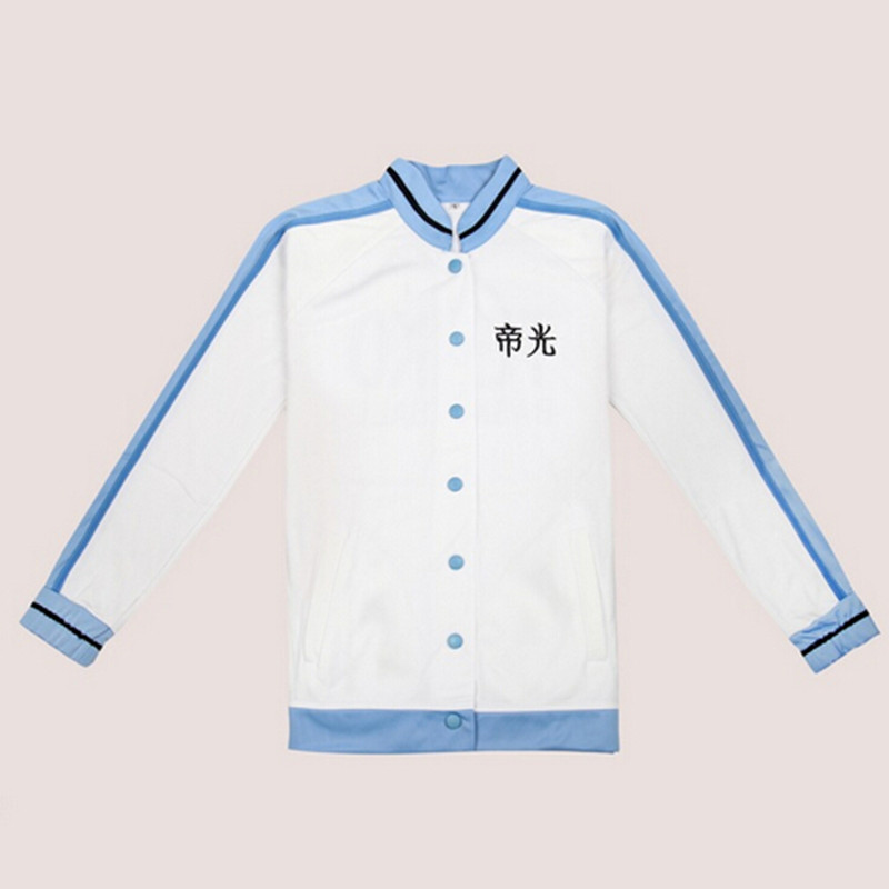 New Style Japanese Anime Kuroko Tetsuya Unisex Aomine Daiki White Long Sleeve Winter School Uniform XH050
