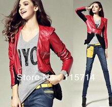 2014 High Fashion Women Luxury Designer Brand Leather Jacket Detachable Silk Patchwork Hem Genuine Real leather Jacket Coat