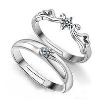 高品質リアル925純銀トレンディ模擬diamoneホワイトキュービックジルコニア婚約指輪ジュエリー女
