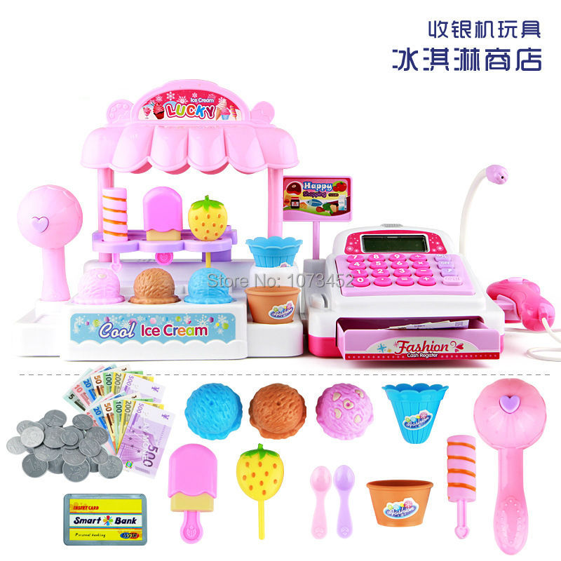 Play house cash register ice cream store brinquedo menina kids kichen set cozinha de brinquedo toys gift for children deer king jewelry beeswax bracelet s925 sterling silver antique shaolan craft exquisite female new early adopters