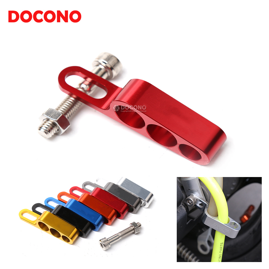 Universal Motorcycle CNC Hose Tube Line Clamps Clip For HONDA CRF250L SHADOW KAWASAKI Z300 ER-4N SUZUKI RMX-Z450 DR-Z250 etc. 2953s 95 4n