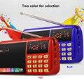 C-803 Com Duas 18650 Baterias Slot & Lanterna LED & Two Slot Para Cartão TF USB Speaker Portátil Rádio FM Sem Fio MP3 jogador