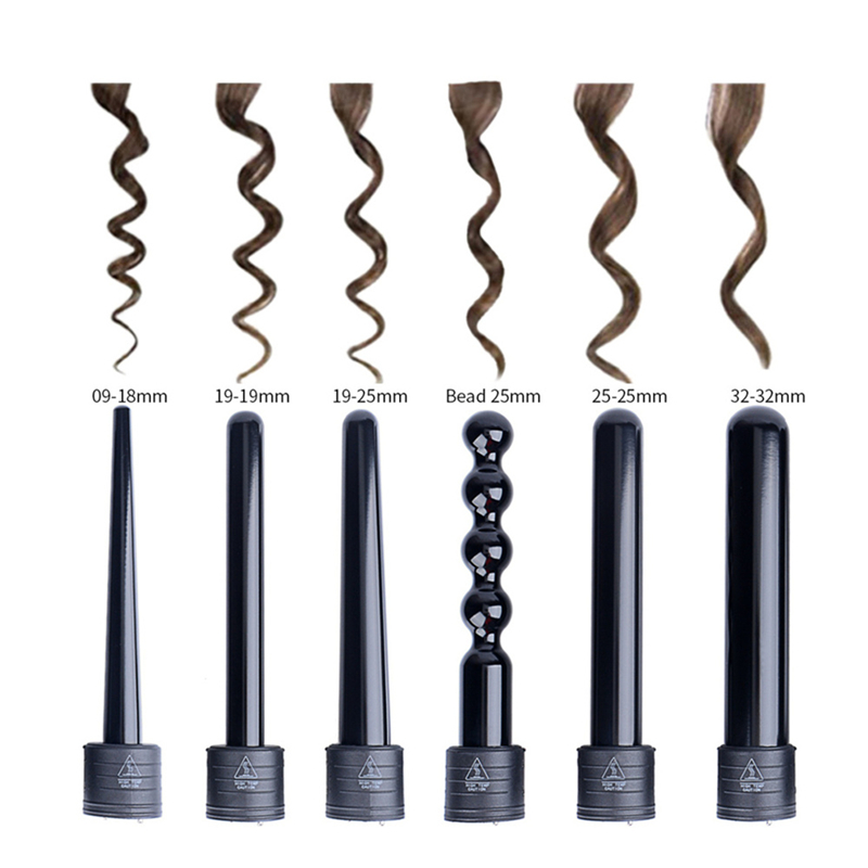 8 Kinds Hair Culer Roller Accessories 9-32mm Curling Iron Wand Waver Tourmaline Ceramic Professional Barber Hair Styling Tool 35