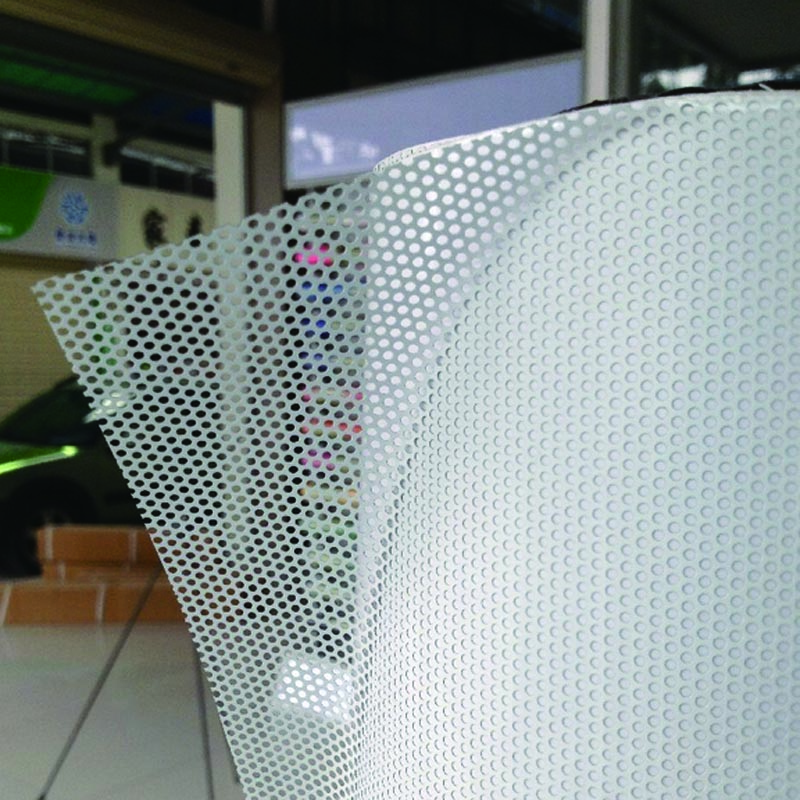 One Way Perforated Vinyl Privacy Window Film Adhesive