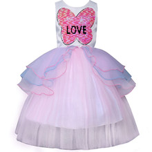 71ea8fa13803 2018 Hot Girls Unicorn Party Dresses Flower Girl Wedding Dress Children's  Birthday Princess Costume Baby Clothes