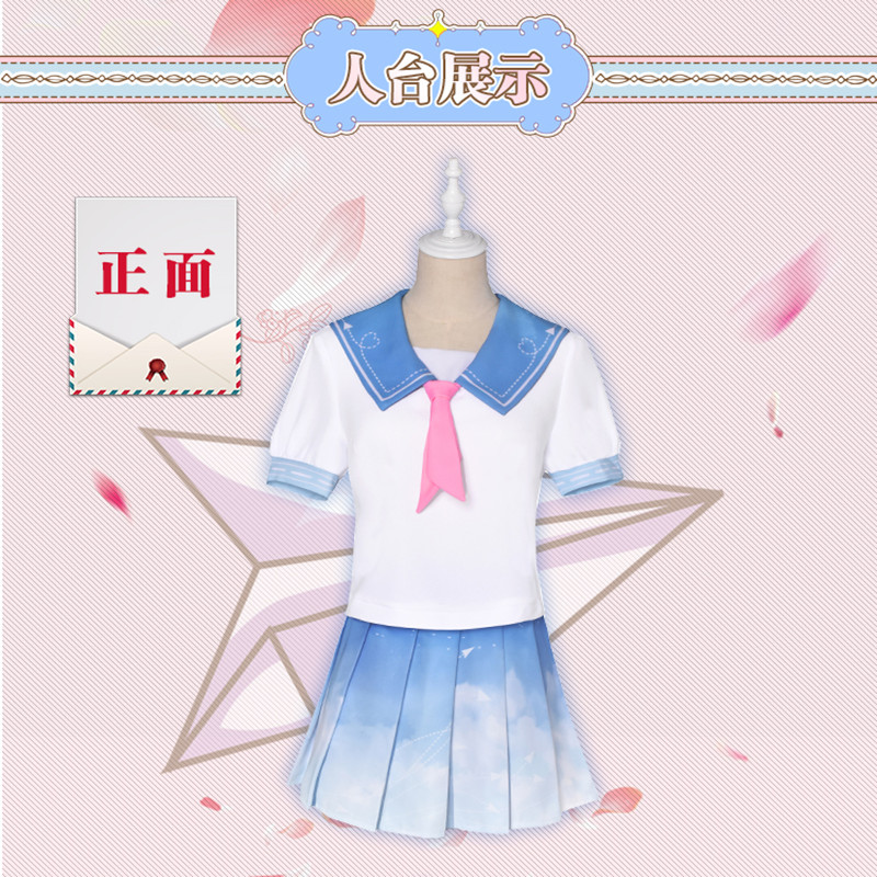 [Stock] Anime! Miracle Nikki Lolita Dress Sailor Uniform Cosplay Costume Digital Printing Daily Clothes For Women Free Shipping