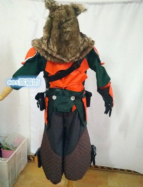 6741f25b Free Shipping OW Hanzo Shimada Lone Wolf Skin Cosplay Costume Halloween  Uniform Hat+Shirt+Pants+Belt+Bag+Gloves Custom-made
