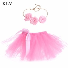 KLV  Lovely Baby Newborn Toddler Girls Hairband Tutu Skirt Photo Prop Costume Outfit