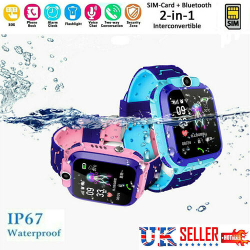 Waterproof Kids Smart Watch Anti-lost Safe GPS Smart Watch Kids Tracker SOS Call Phone Smartwatch Sim For Android IOS