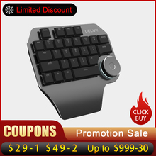 Delux T11 Designer Keyboard Keypad with Smart Dial 3 Group Customized Keys for Windows Mac OS & Design Software For PC Laptop