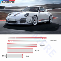 For Porsche 911 Whole Body Decal Door Side Skirt Stripes Auto Hood Tail Roof Sticker Car Customized Decal Sport RS40 Styling