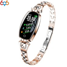 696 H8C Smart Watch Women Lady Smartwatch Bracelet Fashion Wear Stainless Steel Strap Jewel Watch Business Formal smart band