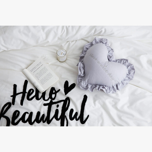 New 100% Cotton Heart Shape Pillow 4