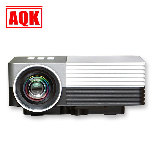 """Venta! 100 """"proyector multimedia portátil soporte de vídeo full hd 1920*1080 mini proyector de cine en casa HDMI VGA SD AV proyector"""
