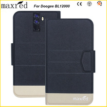 Maxred Original! Doogee BL12000 Case 5 Colors High Quality Flip Ultra-thin Luxury Leather Protective For