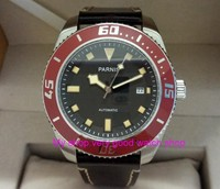 43mm Parnis Sapphire Crystal Japanese 21 jewels Automatic Self Wind Movement Mechanical watches 5Bar Luminous Men's watches 288