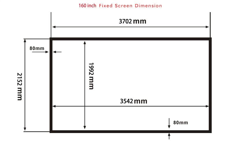 Enorme Cinema HD pantalla 160 pulgadas fijo plana Marcos DIY ...