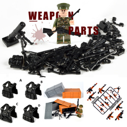 Пистолет оружие, строительные блоки, Legoinglys, Военный Город МОС, полицейский, Минифигурки, WW2, военные армейские строительные игрушки