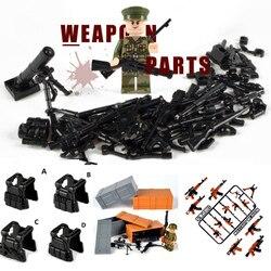 Пистолет оружие Swat строительные блоки legoingwood Военный Город МОС полицейский солдат MiniFiguresING WW2 военная армия Строитель Игрушки