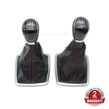 For Ford Focus MK2 Facelift 2004-2014 Kuga 2008 2009 2010 2011 2012  Car 5/6 Speed Manual Gear Stick Shift Knob PU Leather Boot цена