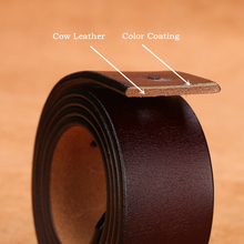 BISON DENIM genuine leather belt for men gift designer jeans belts men's high quality Cowskin Personality buckle Vintage N71223