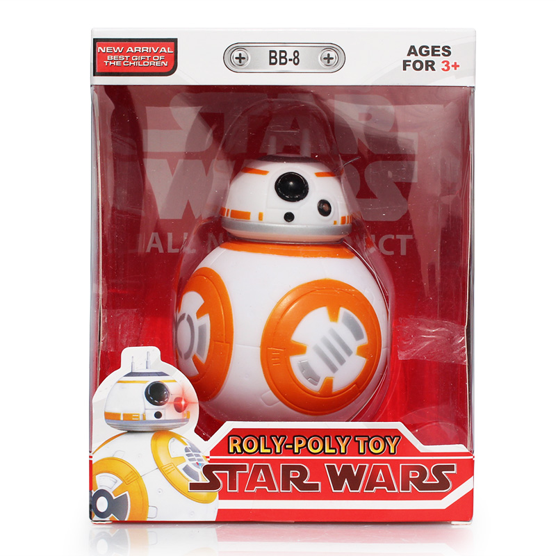 """Star Wars The Force Awakens BB8 BB-8 Droid Robot With Music Light Plastic Action Figure 5"""" Doll Toy Kids Christmas Gift"""