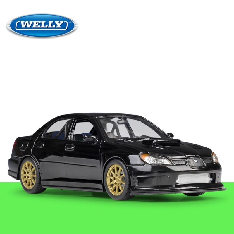 1:24 Welly Subaru Impreza WRX STI Blue/black Diecast Model Car