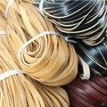 5 М/лот Черный/Красный/Коричневый 3 мм Настоящее Кожаный Шнур Плоским Натуральная Веревка для DIY Ожерелья и Браслеты ювелирные изделия Делая Выводы F15