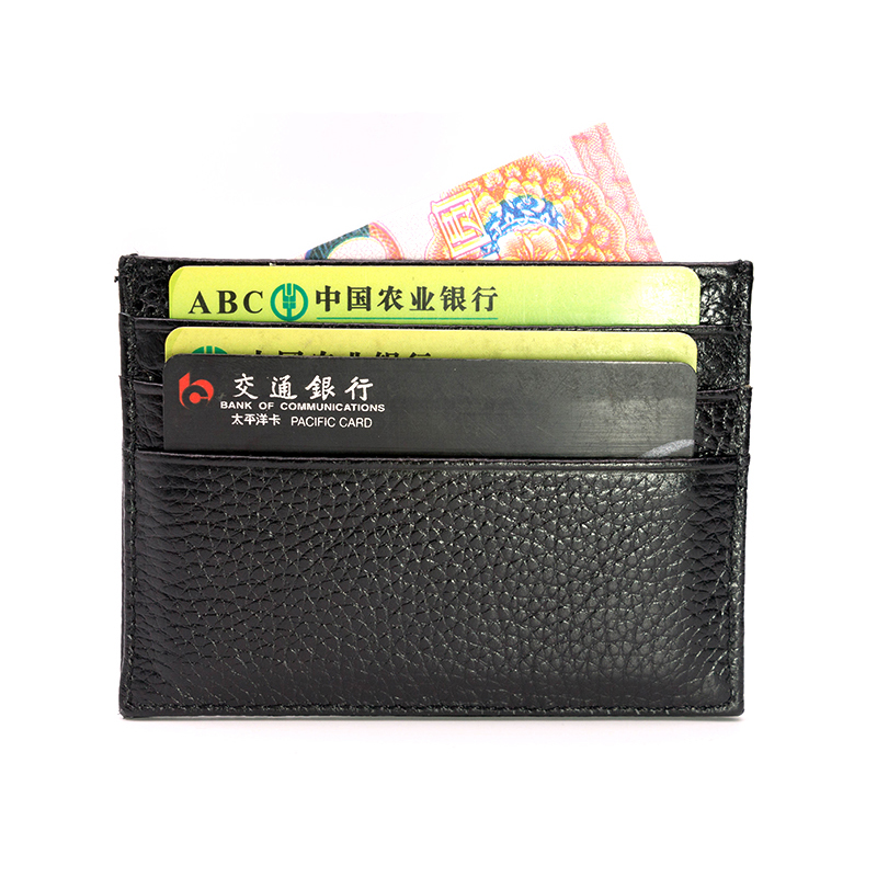 Ultra-thin Soft Genuine Leather Mini Credit Card Holder Wallet 100% Natural Cow Skin Purse Men Women Money Wallet Thin Small ultra thin colorfulcascading pull out card holder wallet