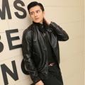 Весна и осень стенд воротник досуг молодежи pu кожаная куртка прилив тонкий slim-типа Корейский куртка мотоцикла мужчины кожа мужчины