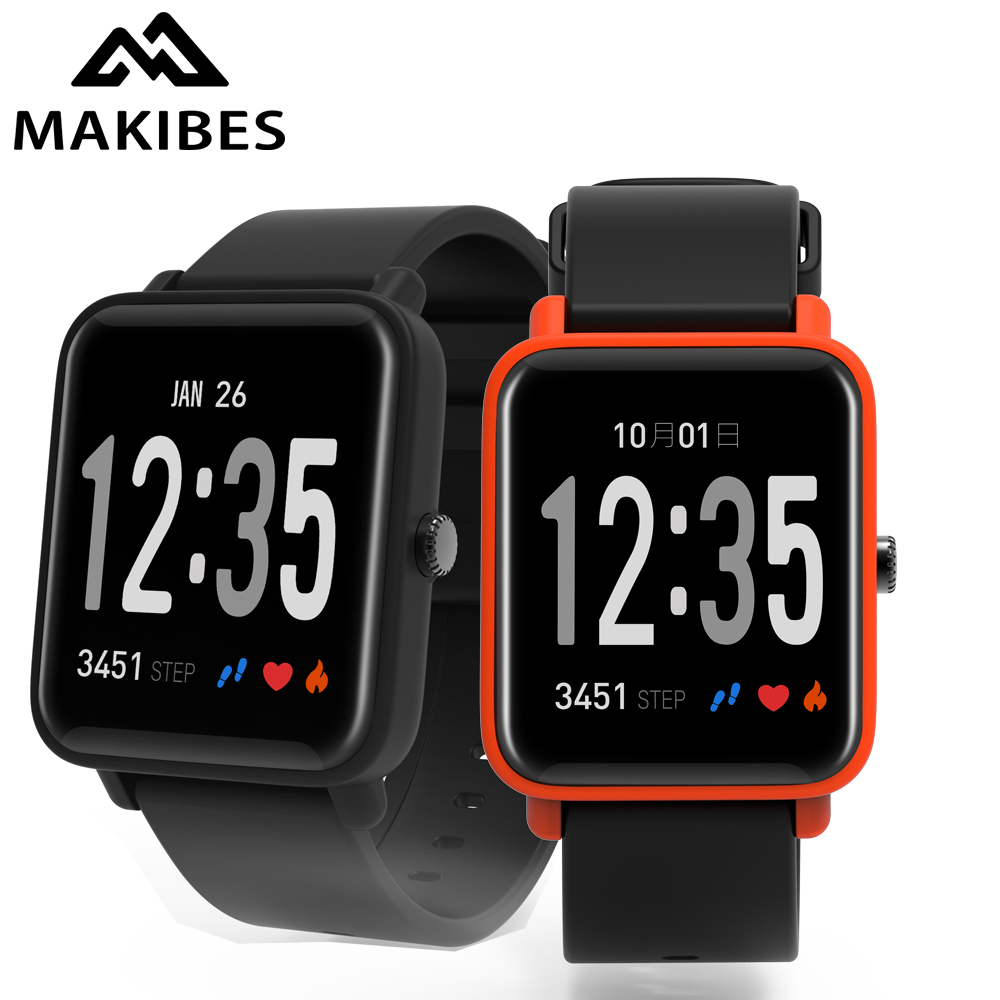 In stock Makibes CK03 Fitness Activity Tracker Heart Rate Monitor Smart Band Bracelet Bluetooth Sport Clock for Men Smart watch original makibes hr1 smart bracelet fitness activity tracker continuous heart rate monitor 0 96 oled bluetooth wristband